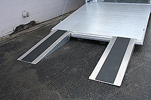 Extruded Ramp w/5' Aluminum Ramp Extensions