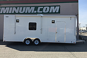 24' Car Hauler w/window, Halogen Lights, Awning