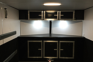 LED lighting under overhead cabinet