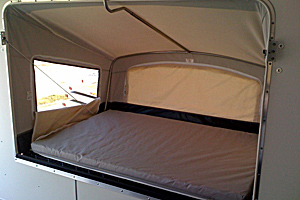 Fold out bunk Interior view
