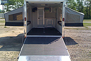 Rear view custom Overnight pkg,