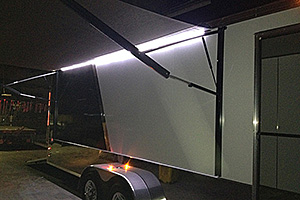 Power awning with optional LED Lighting