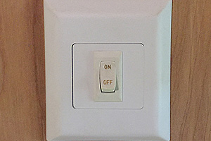 (1) 12v Wall Switch at Side Door
