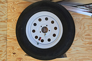 15″ Radial White Spoke Spare Tire